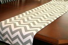 Premier Prints Table Runner- Grey Chevron- 13x72. $19.95, via Etsy.
