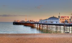 Brighton beach is the perfect place to catch a tan and go for a swim it also has traditional English beach huts and fish and chips ( a traditional English dish) it is also a free day out and the kids can run around and build sand castles to be creative.