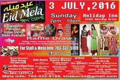 Attraction: Bangladeshi, Pakistani and Indian Verity Stalls for Clothing, Jewelry, Henna, Food, Mortgage, Realtoe, Law Firm, Beauty Store, andmany more.......