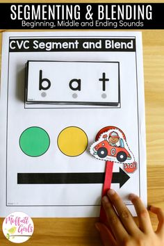 Segment and Blend CVC Words- Teach letter recognition and letter formation and move to reading with this fun phonics activity! Fun for Preschool and Kindergarten! Fun Phonics Activities, Fun Activities For Preschoolers, Kindergarten Literacy, Alphabet Activities, Literacy Strategies, Reading Activities, Teaching The Alphabet, Teaching Reading, Learning