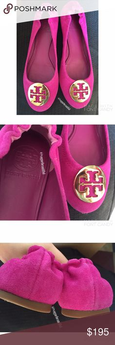 Tory Burch Purple Suede Reva Flats Beautiful Tory Burch Purple suede Reva flats • 100% authentic • no box included • size 7.5 M • very minimal wear to these, overall great condition • retail for $295 • NO TRADES‼️ Tory Burch Shoes Flats & Loafers