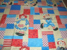 """Daisy Kingdom """" Raggedy Ann and Friends """"  Cotton Fabric 1 yd x 44"""""""
