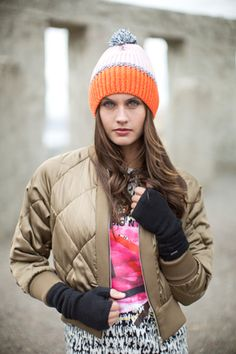 Pistil Hepburn Wristlet - Womens - at Outdoormountainspirit.com Fingerless Mitts, I Fall, Fall 2015, Cold Weather, Camel, Cashmere, Bomber Jacket, Winter Jackets, Collection