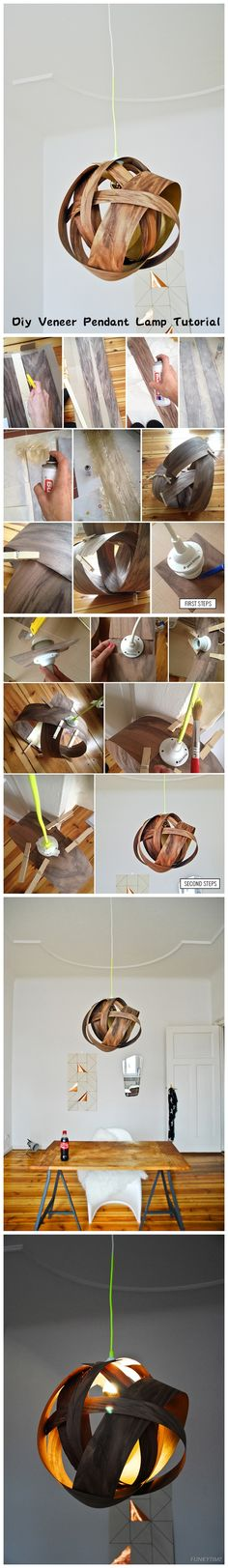 Diy Veneer Pendant Lamp Tutorial