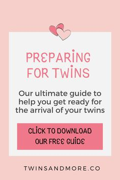 The Ultimate Guide to Preparing for Twins - Twins & More  Pregnant with Twins? Finding out you are having twins can be a shock!   Will you have to buy TWO of everything?    Read our in-depth guide to help you as you start preparing for your twins arrival.   Plus grab our FREE Preparing for Twins Guide that you can use to help you start planning for your twins.   #twinsandmore #preparingfortwins #pregnantwithtwins Breastfeeding Twins, Newborn Twins, Twin Babies, Pregnant With Twins, Expecting Twins, Nursery Twins, Raising Twins, How To Have Twins