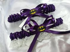Hey, I found this really awesome Etsy listing at https://www.etsy.com/listing/194528118/plum-batman-themed-wedding-garter-set