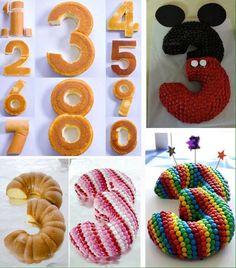 Pasos para hacer el numero 3 en una torta.