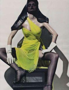 styling by Carine Roitfeld dress McQueen