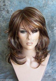 Большие посадки 3 тон глубокий красно-коричневый/медь/блондинка мульти слой средний/длинный нирвана сара парик