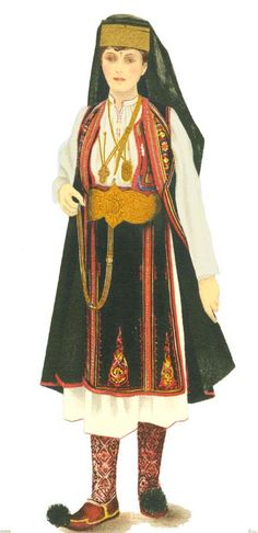 """There are 3 main groups of Aromanians: Grãmusteni (mostly in Macedonia) including the """"sãrãcãcianii"""" subgroup Pindeni (in Greece, in the Pind and Olymp Mountains) & Fãrseroti (mostly in Albania) Folk Embroidery, Learn Embroidery, Embroidery Patterns, Macedonia People, Popular Costumes, Folk Costume, Embroidery Techniques, Romania, Fashion Art"""