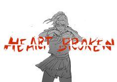 Heart Broken by puxpixXI Psycho Girlfriend, Male Yandere, Love Sick, Little Games, Kawaii, Yandere Simulator, Heart Broken, Sketches, Fan Art