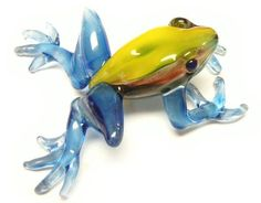"2012 Flameworked Glass 1st. Place ""Poison Dart Frog"" by Jill"