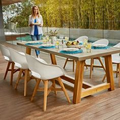Marson Faux 2400 Table with 6 Ronan Tub Chair Package - Packages - Outdoor Outdoor Dining, Dining Table, Outdoor Decor, Cement Table, Early Settler, Tub Chair, Teak, Outdoor Furniture Sets, Lounge