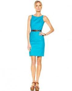 Turquoise sheath dress from Michael Kors