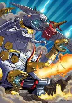 The Dinobots.    *Picture made by Deviantart artist mmatere.