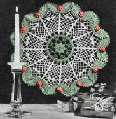Christmas Doily | AllFreeCrochet.com