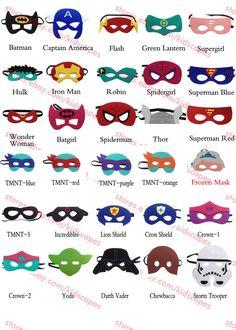 Hero Felt Mask Birthday Party Favors Costumes Turtles Elsa and Superhero Party Favors, Party Favors For Kids Birthday, Thor Superhero, Batman Spiderman, Felt Mask, Halloween Disfraces, Super Hero Costumes, Mask For Kids, Turtles
