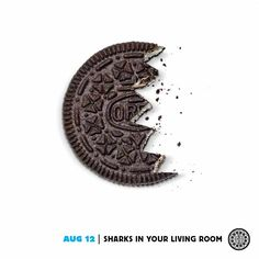 August 12 - Sharks in your living room Oreo Milk, Twist And Shout, Shark Bites, Shark Week, Advertising, Ads, Sharks, Banner Design, Graphic Design