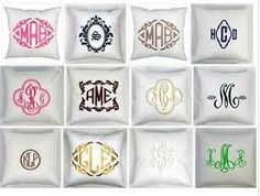 monogrammed floor pillows - Google Search