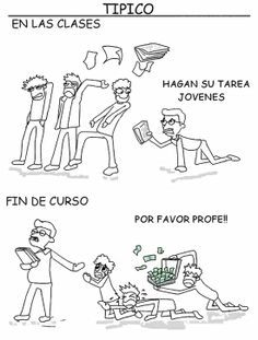 Joke in Spanish about students/teaching #learning #spanish #kids