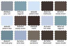 Brown, Blue and Grey Color Palette for Master Bedroom..