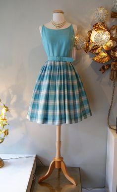 1960's Dress // Vintage 60's Plaid