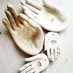 Happy and thankful ..#porcelain  #hands #chamsa  #ceramics  now available @tankturner @merchantmodern