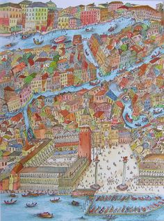 "Saatchi Art Artist ADRIAN GREEN; Painting, ""Venice"" #art"
