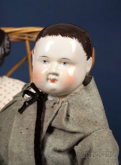 Early Pink-Tinted Turned China Shoulder Head Boy Doll | Sale Number 2383, Lot Number 767 | Skinner Auctioneers