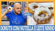 COMO FAZER DONUTS COM NUTELLA E LEITE NINHO   Ana Maria Brogui #445