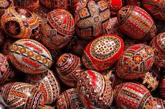 Hand painted easter eggs from  Romania