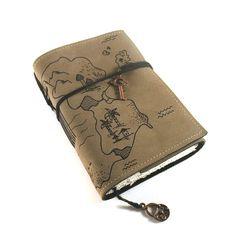 Leather Journal Handmade Treasure Map by Kreativlink on Etsy