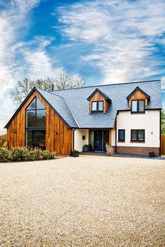 Future House, Dormer Bungalow, Bungalow Renovation, Dream House Exterior, House Ideas Exterior, Modern Bungalow Exterior, House Extensions, House Goals, House Front