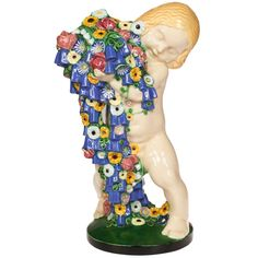 Michael Powolny Wiener Keramik Spring Putto Monumental Ceramic pre 1912   From a unique collection of antique and modern ceramics at http://www.1stdibs.com/furniture/dining-entertaining/ceramics/