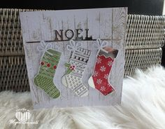 Magical Scrapworld, Christmas stockings. cards, christmas, hang your stocking, hardwood, Stampin' Up!,