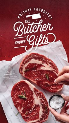 Omaha Steaks is the original premier provider of quality hand-cut steaks, food gifts, seafood, wine and great side dishes. Buy the best steaks online with a Satisfaction Guarantee! Gourmet Food Gifts, Gourmet Recipes, Carnicerias Ideas, Omaha Steaks, Food Gift Baskets, Meat Shop, Fresh Meat, Easy Pasta Recipes, White Meat