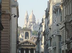 Monmarte - small village in France at the base of the Sacre Coeur, where the streets are filled with artists