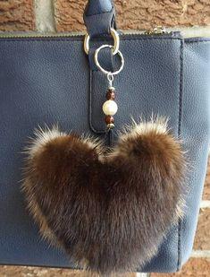Items similar to Heart-shaped bicolor Pom Pom/Real/Genuine fur bag charm/Fur Keychain/jewelry bag/fur bag jewels/Canada Quebec/beige/dark brown/pastel mink on Etsy Vintage Fur, Vintage Purses, Bijoux Wire Wrap, Fur Purse, Fur Clothing, Fur Wrap, Fur Accessories, Fake Fur, Fur Fashion