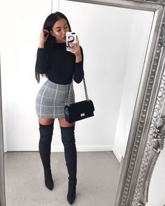 Winter Date Night Outfits – Damen Frühjahr & Sommer Mode … - Outfits Winter Date Night Outfits, Summer Outfits, Skirt Outfits For Winter, Date Night Outfit Classy, Winter Dresses, Party Outfit Winter, Cute Night Outfits, Cute Outfits With Skirts, Winter Going Out Outfits