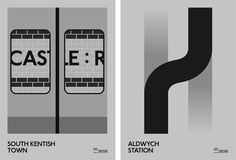 Graphic designer Tom Wood has created a series of ten designs that celebrate London Underground's long closed and mostly forgotten stations