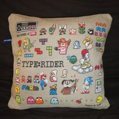 This just gave me the idea for how to display all the cross stitching things I wanna make - each pillow is themed!!
