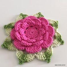 Flor Rosa rasteira passo a passo (106)