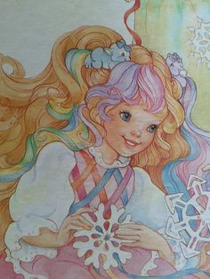 Lady Lovely Locks puzzle. 1980's girls toy. 80's kids. Collectable. LLL artwork. Pixie tails. Paper snowflakes. Maiden curly crown.. $20.00, via Etsy.