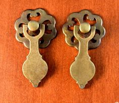 Set of 2 Antique Keeler Brass KBC K12013 Pendant & Rd. Open Back Plate    #KeelerBrassCompany