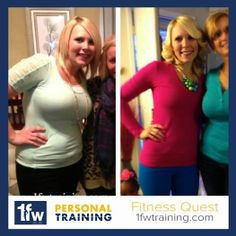 After 8 months with our Fitness Quest program, Leah has done more than transform her body. She's transformed her life.  Wanting to transform your life in 2014? Fitness Quest gives you access to daily workouts, shopping lists, and the community to help keep you accountable.   Let us help you get started. www.1fwtraining.com