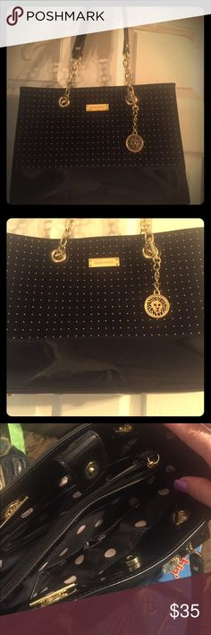 Pocketbook by Anne Klein New without tag beautiful evening or day pocketbook with Gold studs with Chain hoops as a part of the handles. Anne Klein Bags Shoulder Bags