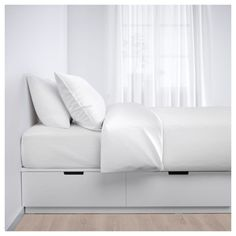 NORDLI white, Bed with storage, cm. NORDLI bed is more than a comfortable bed. Single Beds With Storage, Bed Frame With Storage, Bed Storage, Bed With Drawers Single, Cama Box Casal Queen, Twin Xl Bed Frame, Nordli Ikea, Large Single Bed, Cama Ikea