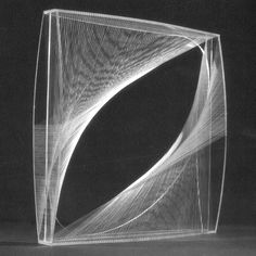 Naum Gabo Linear Construction in Space No.1 (conceived 1942, this version probably executed 1960s) Perspex with nylon monofilament, 61.3 x 61.3 x 13 cm Art Gallery of Ontario, Toronto.