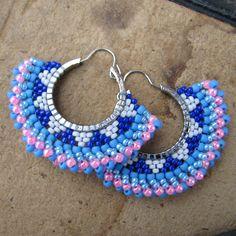 Seed Bead Earrings, Beaded Earrings, Crochet Earrings, Beaded Crafts, Jewelry Crafts, Bead Jewellery, Beaded Jewelry, Craft Accessories, Embroidery Jewelry