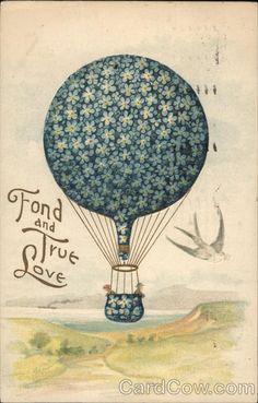 A Hot Air Balloon Over a Valley Romance & Love Hot Air Balloons